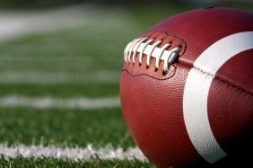 Football Close Up on Field